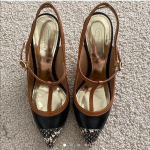 Authentic Coach designer Mary Jane shoes